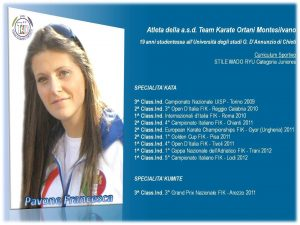 Esempio CV sportivo
